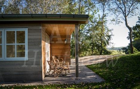 Houten bijgebouw bouwen bekijk dit unieke project for Bijgebouw tuin