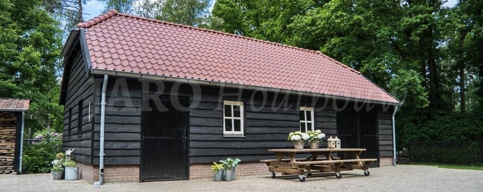Houten schuur jaro houtbouw for Zelf een huis bouwen wat kost dat