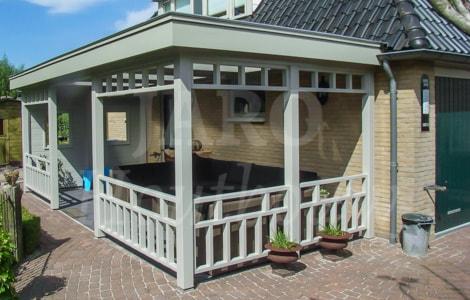 Houten veranda jaro houtbouw for Bouwtekening veranda eigen huis en tuin