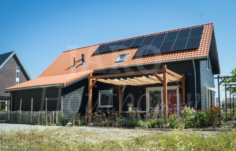 Houtskeletbouw woning jaro houtbouw for Huis bouwen prefab