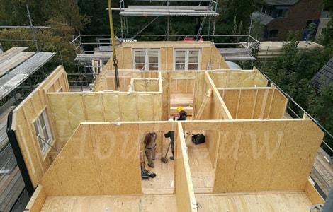 Houtskeletbouw woning jaro houtbouw for Houtskelet schuur