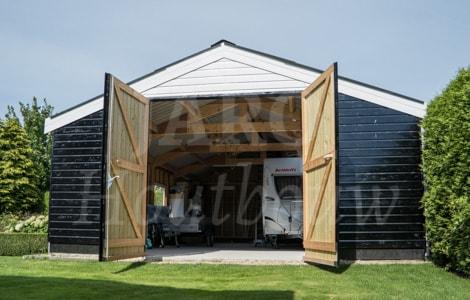 Houten loods bouwen jaro houtbouw for Houtskelet schuur