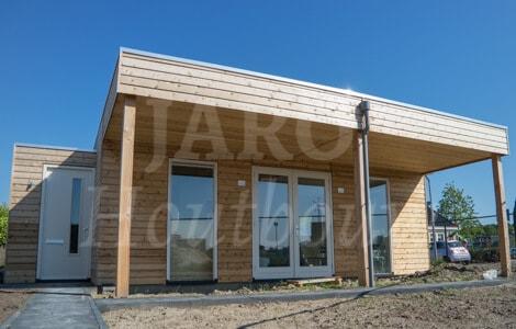 Bouw een modern huis jaro houtbouw - Gevel eigentijds huis ...