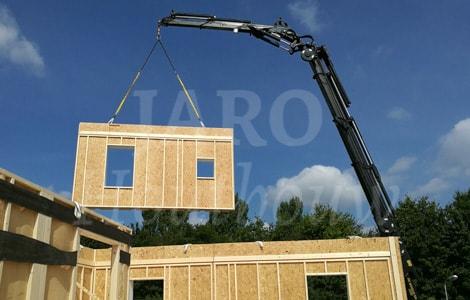 Prefab bouwen met jaro houtbouw for Houtskelet schuur