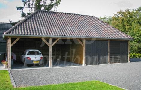 Garage Met Overkapping : Schuur of garage bouwen jaro houtbouw