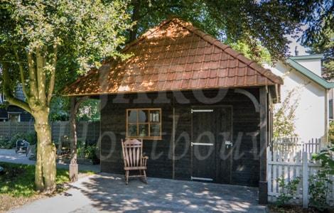 Veranda Met Schuur : Schuur of garage bouwen jaro houtbouw