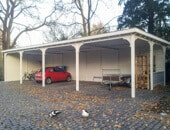 Houten carport in Kloetinge