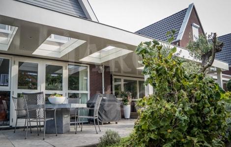 Overkapping Tuin Modern Perfect Moderne Design Aluminium Voor Grote